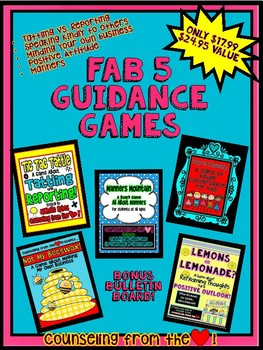 Fab 5 Guidance Games -  Elementary Class and Group Guidance Games