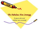 Fab 5 Strategy-Multi-Step Word Problems