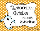 Fab-BOO-lous October Math & Literacy Avtivities
