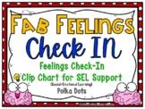 Fab Feelings Check In | Polka Dots | Feelings Clip Chart