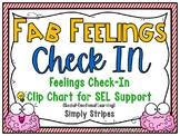 Fab Feelings Check In | Simply Stripes | Feelings Clip Chart