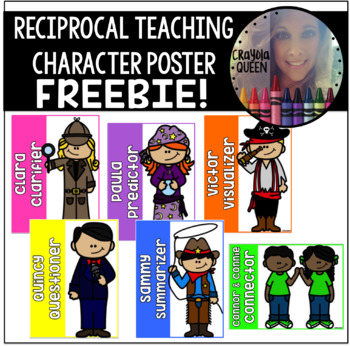 Reciprocal Teaching Character Posters FREEBIE
