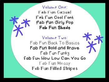 Fab Fun Fonts by Miss Cool's Classroom