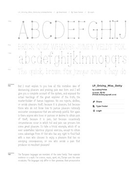 Fab Teacher Fonts: Driving Miss Dotty (Commercial License Included)