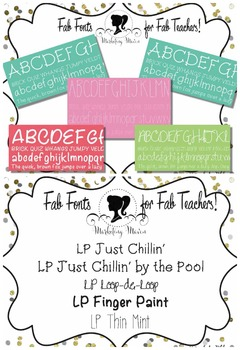 Fab Teacher Fonts: Set 1 (Commercial License Included)