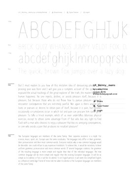 Fab Teacher Fonts: Skinny Jeans (Commercial License Included)