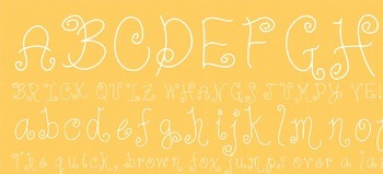 Fab Teacher Fonts: Suzie Q (Commercial License Included)