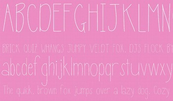 Fab Teacher Fonts: Thin Mint (Commercial License Included)