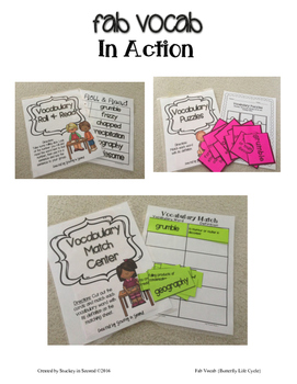 Fab Vocab {Butterfly Life Cycle} A Science Vocabulary Unit
