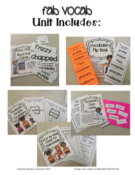 Fab Vocab {Cloudy with a Chance of Meatballs} A Mentor Text Vocabulary Unit