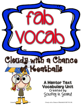 Fab Vocab {Cloudy with a Chance of Meatballs} A Mentor Tex
