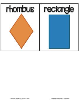 Fab Vocab {Geometry: 2D Shapes} A Math Vocabulary Unit