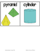 Fab Vocab {Geometry: 3D Shapes} A Math Vocabulary Unit