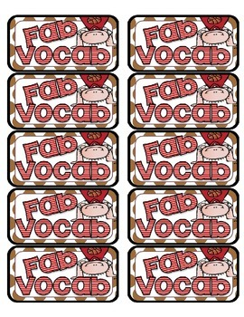 Fab Vocab Labels