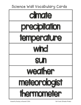 Fab Vocab {Weather} A Science Vocabulary Unit