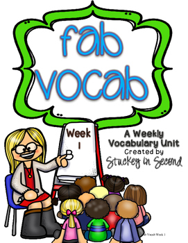 Fab Vocab {Week 1} A Weekly Vocabulary Unit