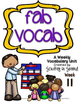 Fab Vocab {Week 11} A Weekly Vocabulary Unit