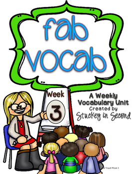 Fab Vocab {Week 3} A Weekly Vocabulary Unit