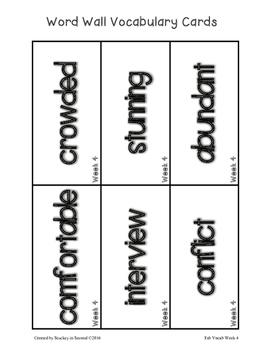 Fab Vocab {Week 4} A Weekly Vocabulary Unit
