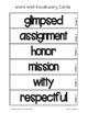 Fab Vocab {Week 6} A Weekly Vocabulary Unit