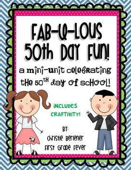 Fab-u-lous 50th Day Fun! {mini-unit & craftivity}