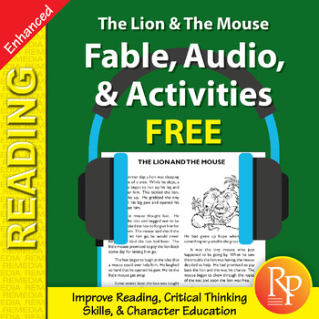 Fable, Audio, & Activities: The Lion & The Mouse - Enhanced {Freebie}