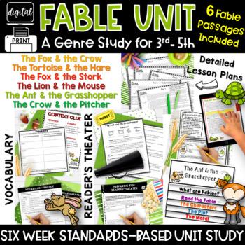 Fables Common Core 3rd Grade 4th Grade Upper RL3.2 RL3.3 RL3.4 RL3.6 RL4.2 RL4.3
