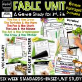 Fables Teaching Theme & Message 3rd 4th Grade RL3.2 RL3.3 RL3.4 RL4.2 RL4.3