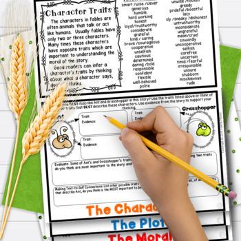 Fables 3rd Grade 4th Grade Ant & Grasshopper RL3.2 RL3.3 RL3.6 RL4.2 RL4.3