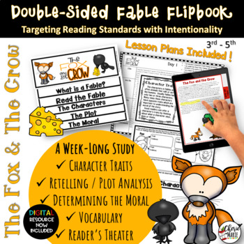 Fables 3rd Grade 4th Grade The Fox & Crow RL3.2 RL3.3 RL4.2 RL4.3