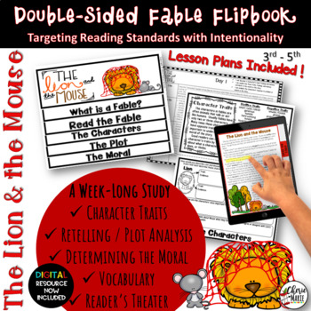 Fables 3rd Grade 4th Grade The Lion & Mouse RL3.2 RL3.3 RL3.4 RL3.6 RL4.2 RL4.3