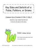 Fable, Folklore, and Myth: Key Idea and Details (Common Core Aligned)