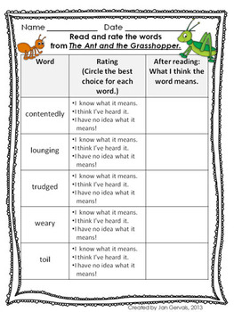 It's just a photo of Divine The Ant and the Grasshopper Story Printable
