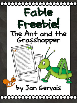 graphic about Ant Printable named Fable Freebie: The Ant and the Grhopper
