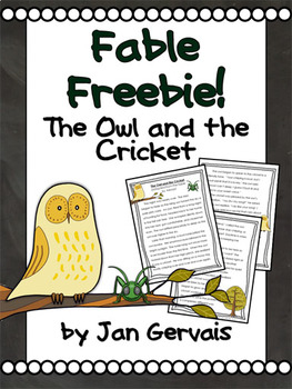 Fable Freebie The Owl and The Cricket
