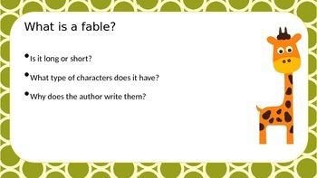 Fable Fun PowerPoint