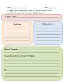 Fable Graphic Organizer
