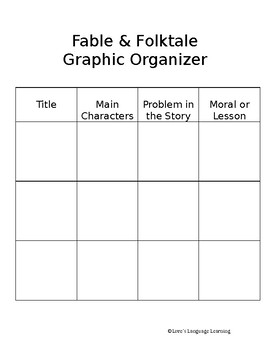 Fable & Folktale Graphic Organizer