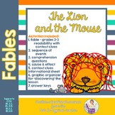 Fables 3rd Grade Common Core RL3.1 RL3.4 RL3.2 Lion and Mouse