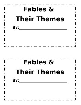 Fable Recounting and Theme Booklet
