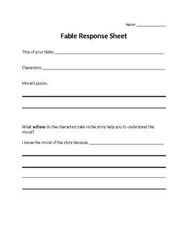 Fable Response Sheet