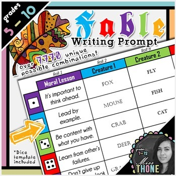 Fable Roll-A Writing Prompt