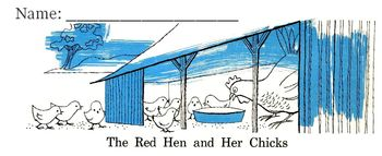 Fables: RED HEN and CHICKS + FUNNY OLD HEN  Read Comprehen