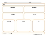 Fairy Tale/ Fantasy Story / Fable Graphic Organizer Narrat
