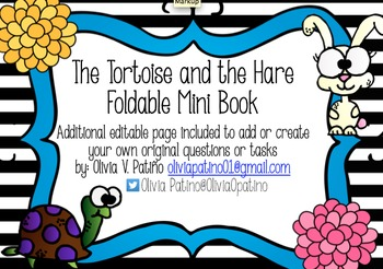 FABLE The Tortoise and the Hare Foldable Mini Book with Kaplan Icons