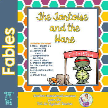 Fables 3rd Grade Tortoise and Hare Common Core RL3.1 RL3.4 RL3.2