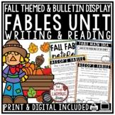 Fables Unit & Fall Writing Activities- 3rd Grade, 4th Grade & 5th Grade
