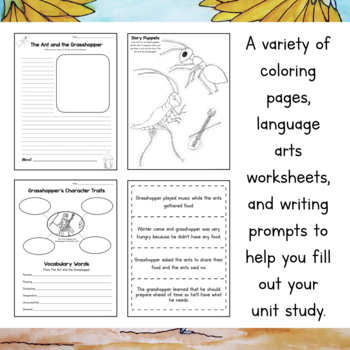 Fable Unit Study- The Ant and the Grasshopper