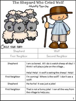 Fable Unit:  The Shepherd Who Cried Wolf