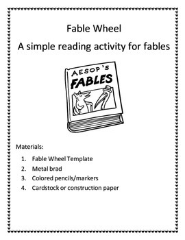 Fable Wheel Reading Activity